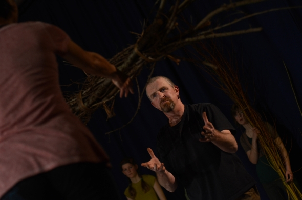 BESPOKE – dress rehearsal, Chulmleigh Community College (Image John Saunders, courtesy Jagged Antics (Hian Ruth Voon) and Dance in Devon 2012)