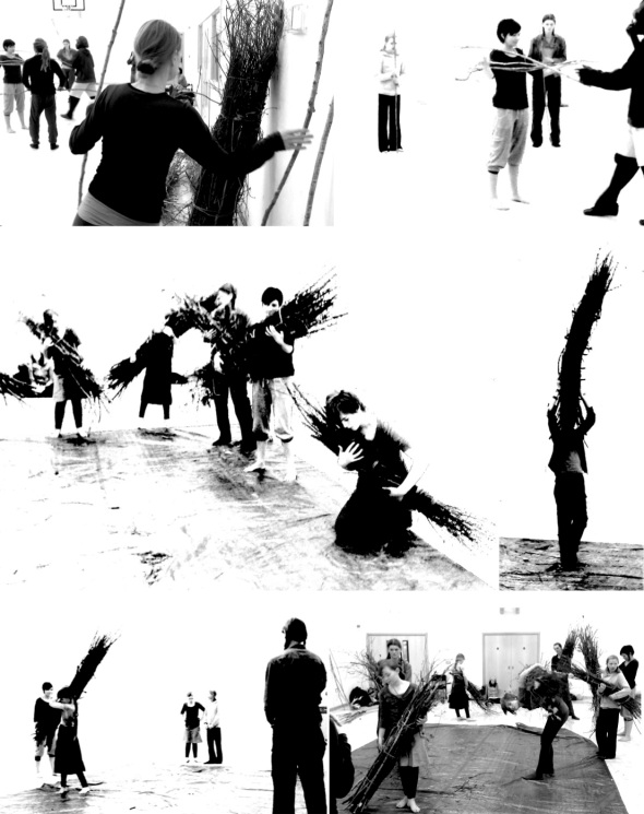 BESPOKE workshop with Home Grown Kids, South Molton (Images P Ward, courtesy Jagged Antics and Dance in Devon, 2012)
