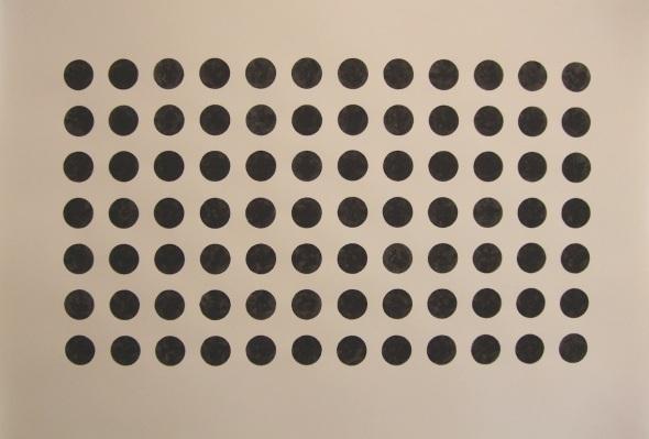 84 dots (bideford black; 112x78cm; 2008)