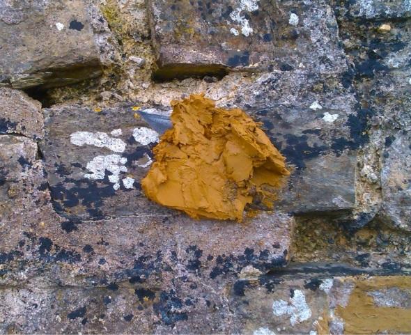 a gurt dollop of muck! (orange clay, fremington quay; p ward 2013)