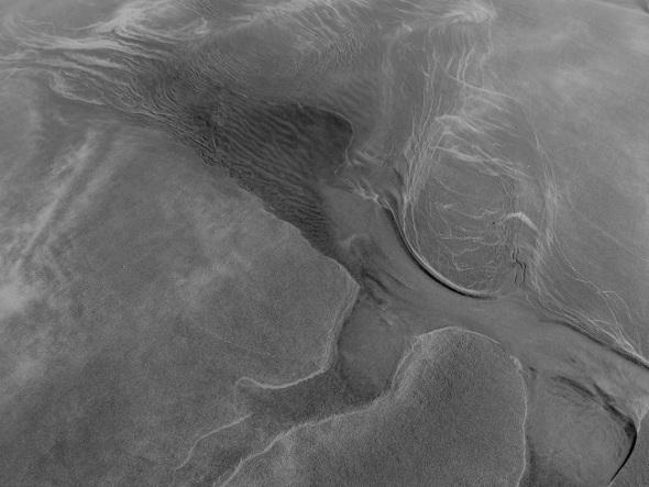 wave drawing in sand, westward ho! (p ward 2013)