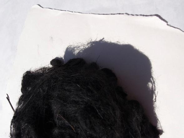 black sheep wool shadow (bideford black dyed wool ball; p ward 2013)