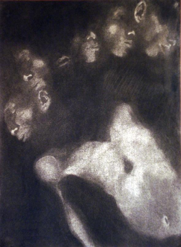 d11 (charcoal body print; pete sakulku 1995)