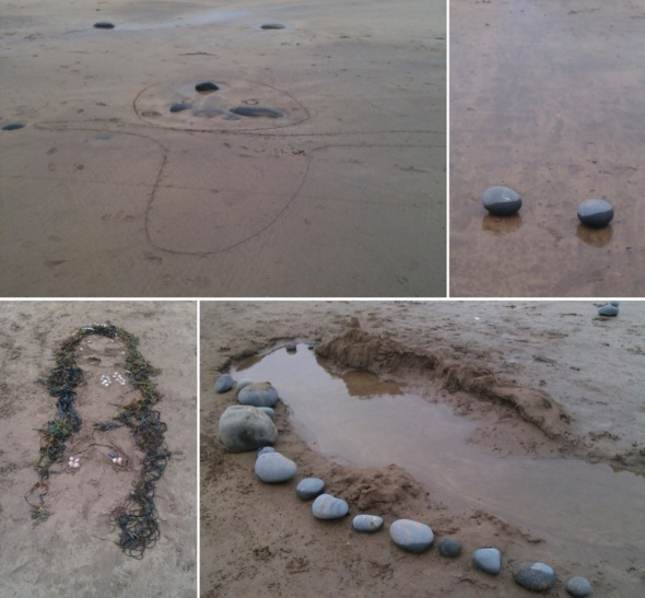 sand, stones, sea, shells and weed, unknown artists, westward ho! (p ward 2013)