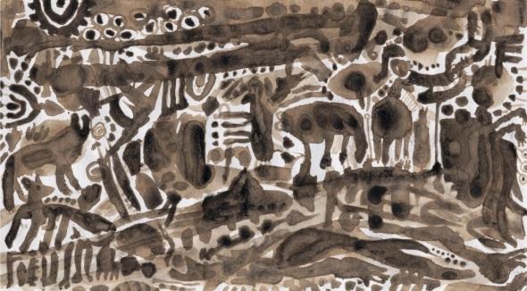 ink cap landscape, co clare, ireland (shaggy-ink-cap ink, © p ward 1995)