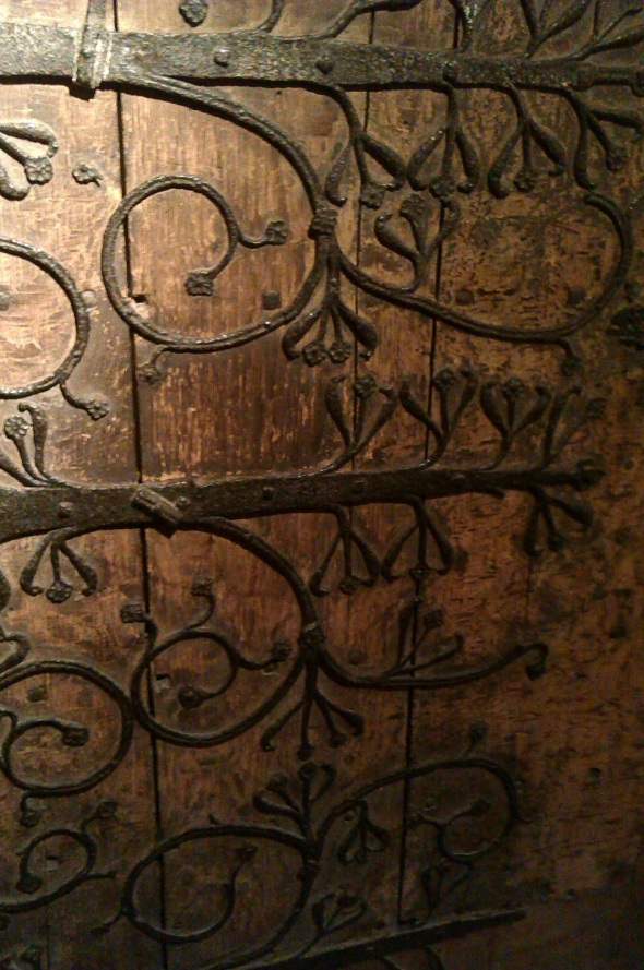 14th century door, wells cathedral (p ward 2013)