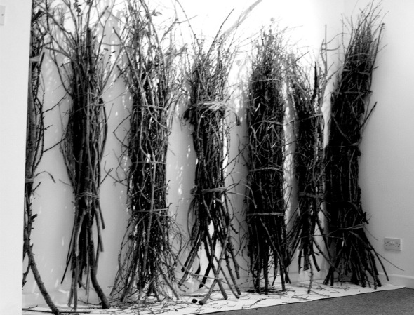 7 bundles of sticks, CMR gallery redruth (p ward; bundles courtesy of Home Grown Kids North Devon, 2012)