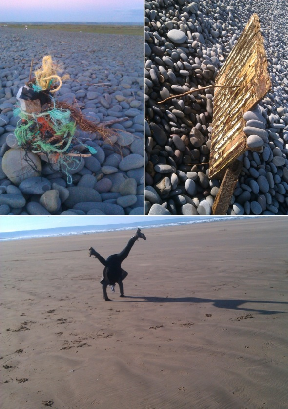 responses to a beach, westward ho! (p ward:f owen 2012)