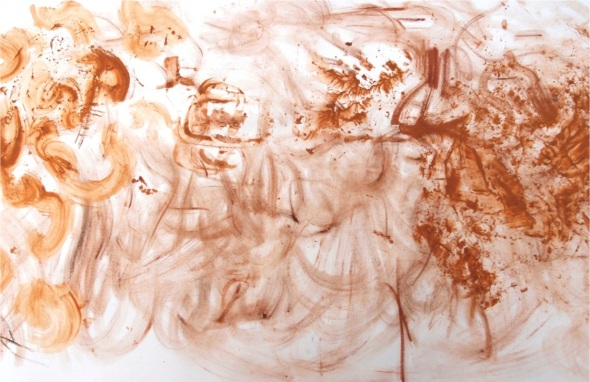 sketch with pigments from yarner wood 1 (p ward 2013)