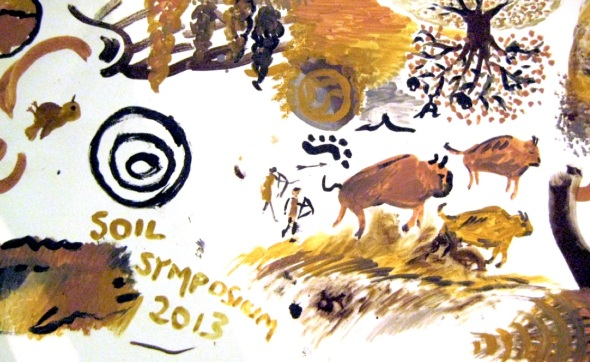 communal painting, soil association symposium, @bristol 2013 (photo courtesy CCANW)