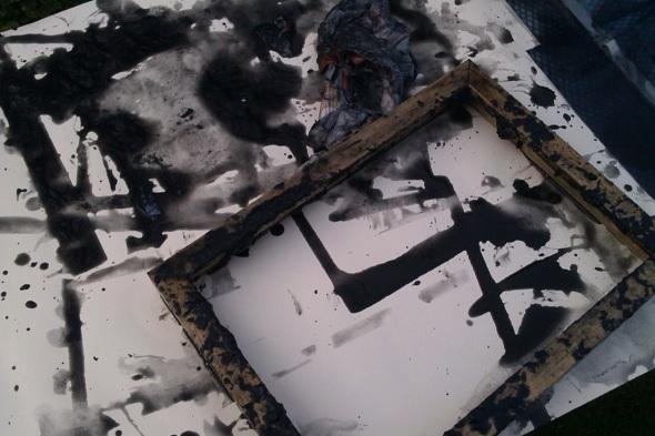 making earth pigment paper with bideford black (f owen 2013)