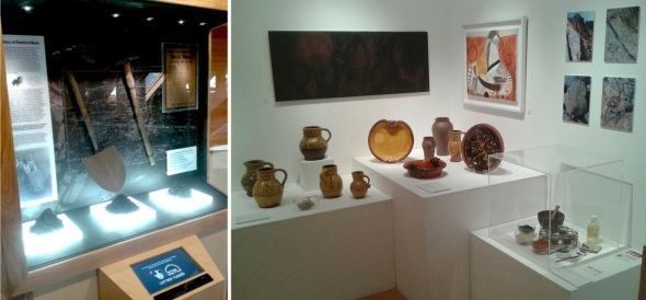 'the story of bideford black' display case and 'pots, fish and ships' exhibition at the burton gallery, bideford (p ward 2014)