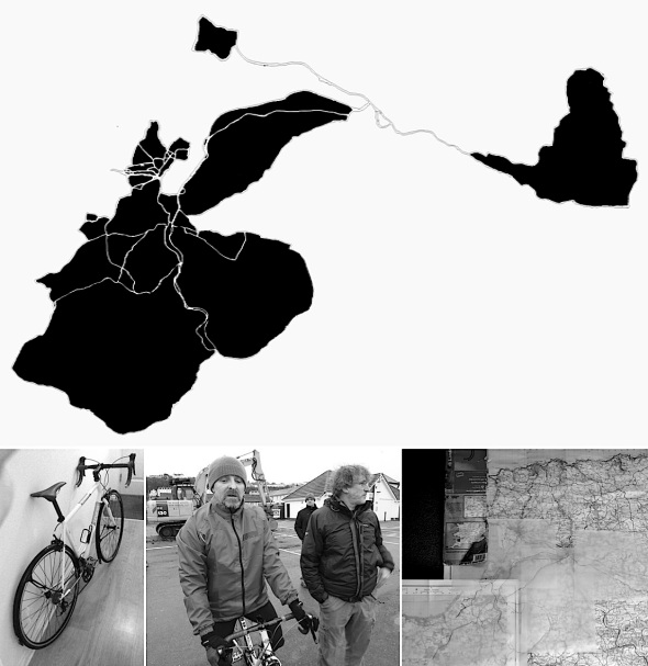 indigenous spirit – art:cycling:mapping:earth pigment:drawing process project (p ward 2014)