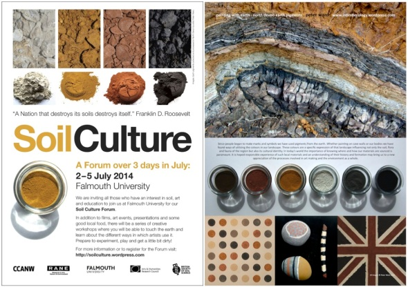 soil culture forum poster and logo; dirt dialogues poster for WCSS 2014 (p ward 2014)