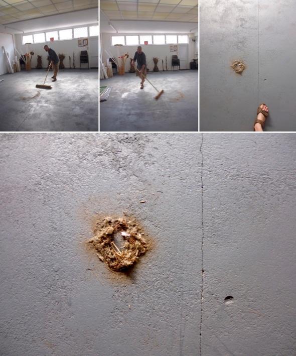 sweeping the floor, eARTh (© p ward:f owen 2014)