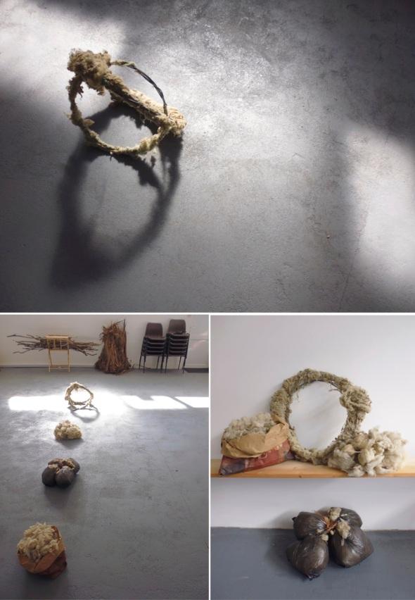 wool wire rings 2; bundles, bushels and stacks; gathered wool (© p ward 2014)
