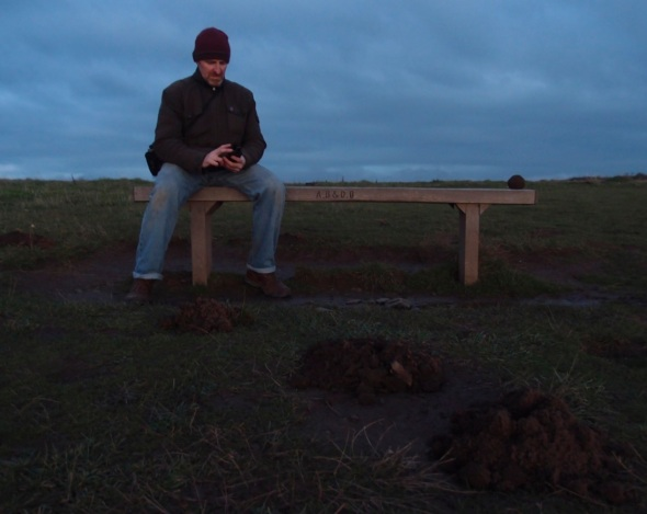 mole hill soil ball 1, baggy point (photograph © francesca owen 2014)