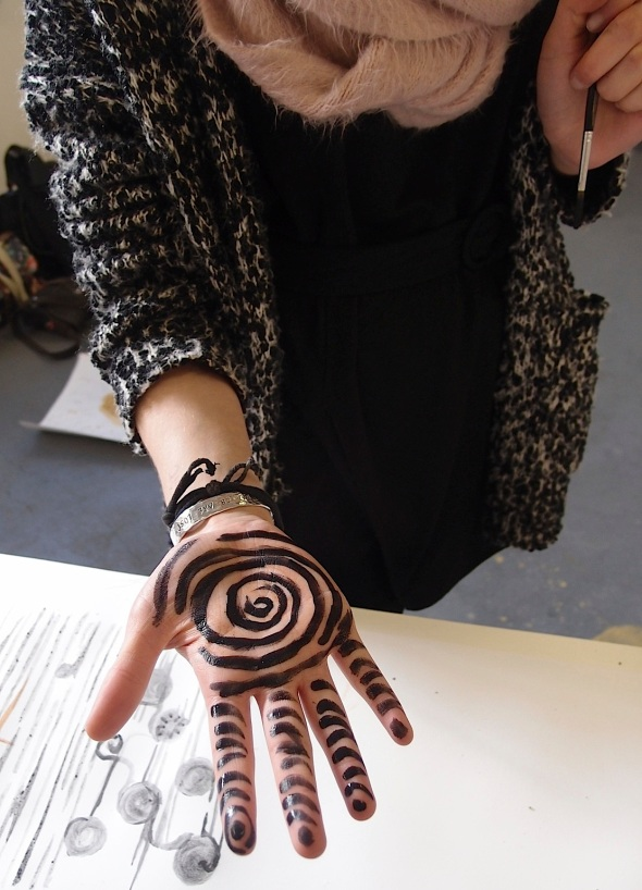 bideford black hand spiral by elspeth © p ward 2014