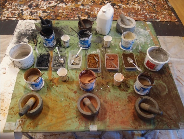 paint making table © p ward 2015