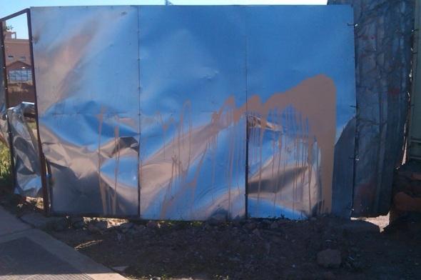 painted metal sheets, marrakech © p ward 2015