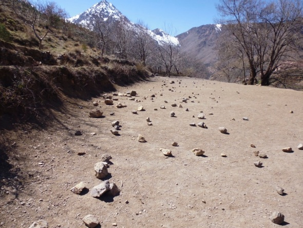 rocks, tamatert, high atlas mountains © p ward 2015