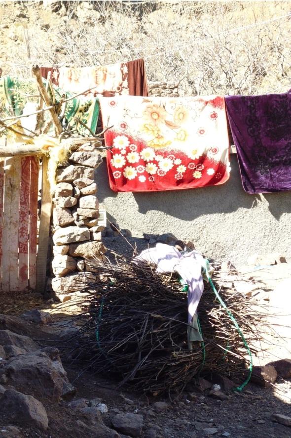 sticks and blankets, aroumd, high atlas mountains © p ward 2015