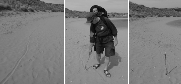 line in the sand © f owen & p ward 2015