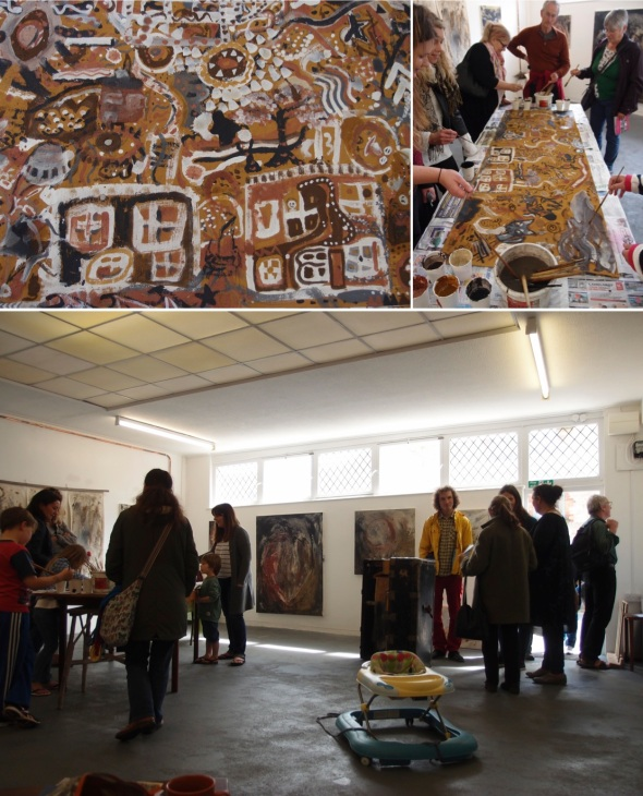 full house – community painting at eARTh for ilfracombe art trail 2015 © eARTh 2015