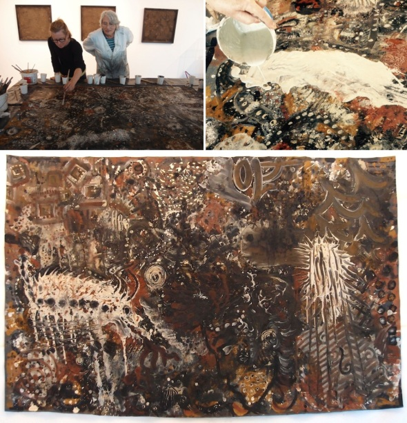 painting together, soil culture peninsula arts © p ward, d williamson 2015
