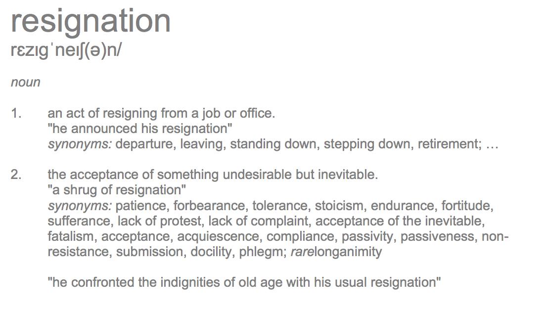 Resignation Definition