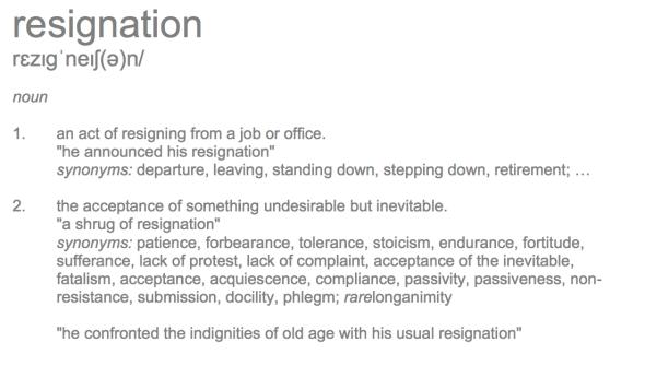resignation-definition