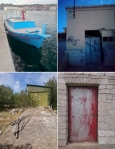 a boat and three doorways; sali, dugi otok, croatia @ p ward2017