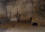 en passant par, cave installation (detail), objets trouvé and earth pigments, GNAP France 3 © peter ward2017