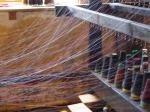 threading the loom, Coldharbour Woollen Mill, Uffculme, Devon © p ward2017