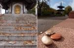 les trois galets de Marc Averly; Peace Pagoda, Battersea Park, London** © p ward2017