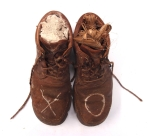 XO, boots with ball clay and cordyline parcels © p ward2017