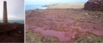 Purple and red 'clays_ at Levant Mine, Cornwall © p ward2018