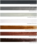 7 Cornish pigments – paint samples on paper @ p ward2018