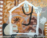 house on wheels – sketch (Cornish earth pigments on paper) © p ward2018