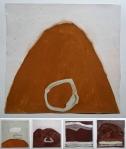 in landscape I-V (Cornish earth pigments on paper) © p ward2018