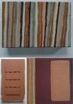 virtually vertical; community (Cornish earth pigments on wood); earth bound (Cornish earth pigments on canvas) © p ward2018