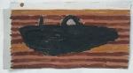 to run aground an island (cornish earth pigments on card; 27x15cm) © p ward2019
