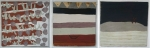 untitled i, ii, iii (cornish earth pigments on board; 25x26cm; 25x28cm; 25x26cm) © p ward2019