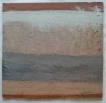 nondescript (Cornish earth pigments on board; 27x26cm) © p ward2019