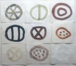 9 cornish earth forms (Cornish earth pigment egg tempera on paper; 48x42cm) © p ward2019