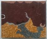 beneath me now (Cornish earth pigments on canvas; 30x25cm) © p ward2019