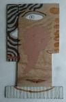 heady (Cornish earth pigments on reclaimed board; 30x50cm) © p ward2019